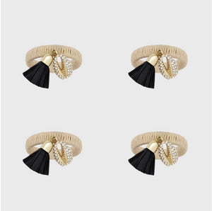 Skinny Puka Shell Napkin Ring | Set Of Four