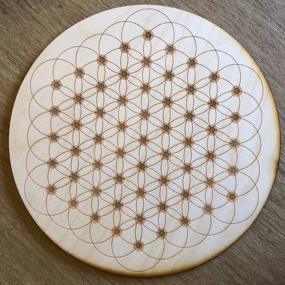 Flower of Life Dotted Crystal Grid  | 6""