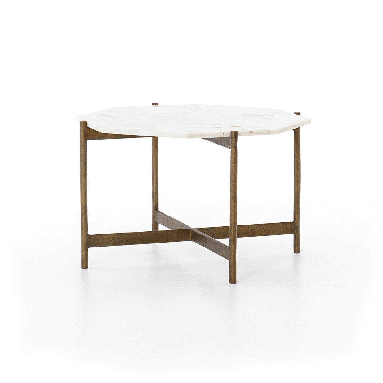 Adair Bunching Table | Marble & Brass