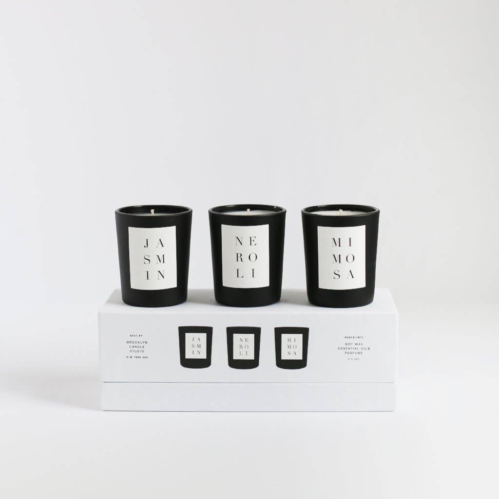 Noir Votive Set | Flora | by Brooklyn Candle Studio