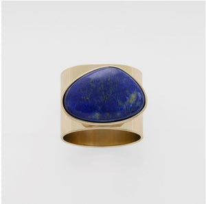 Gilt Edge Shell Napkin Rings | Lapis Lazuli | Set Of Two