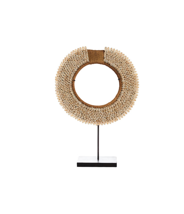 Cowrie Shell Collar on Stand