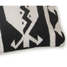 "Tulum Kilim Lumbar Pillow | Black & White | 12""x30"""