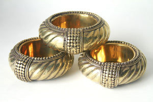 Vintage Silver & Brass Bangle Dish