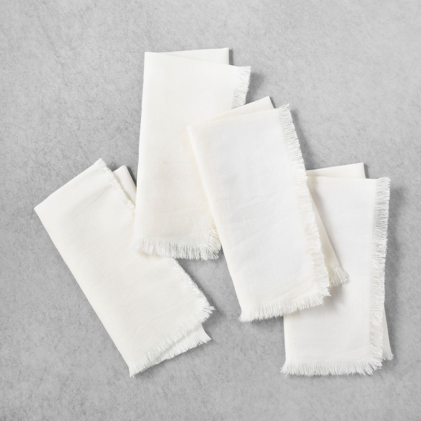 White Linen Napkin | Set of 4