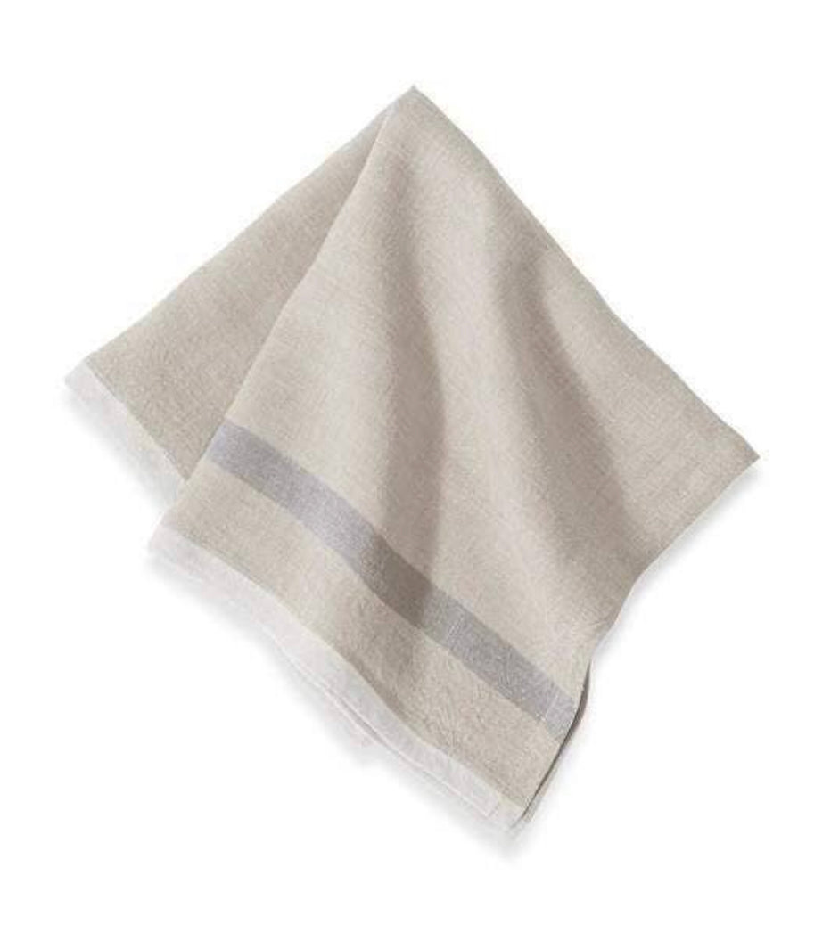 Laundered Linen Napkins Natural & Grey | Set of 4