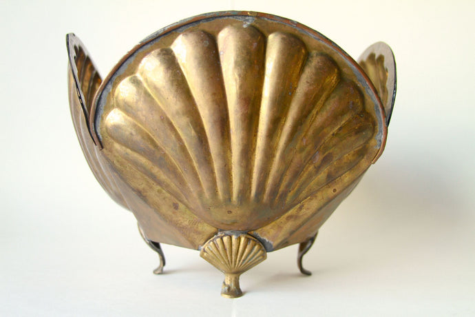 Brass Shell Bowl Vintage
