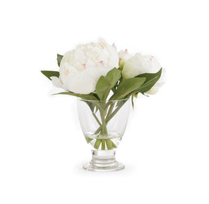 "Faux Peony Arrangement in 8"" Vase 