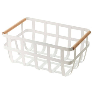 Tosca Dual Handle Storage Basket White