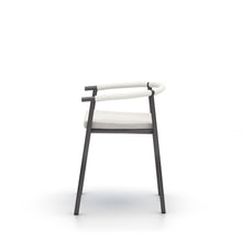Bronze Chord Outdoor Dining Chair | Bronze Base & Stone Gray Seat