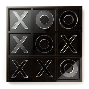 Black Acrylic Tic Tac Toe Game
