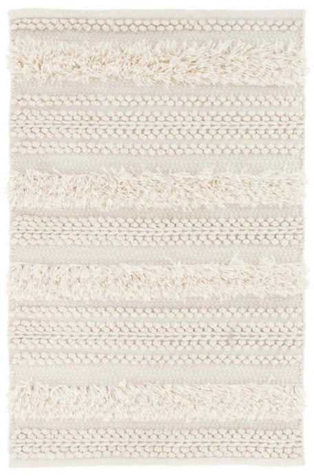 Zhara Stripe Indoor/Outdoor Rug | Ivory | 9'x12'
