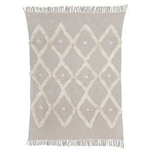 "Dawn Tufted Throw  Grey | 50""x66"""