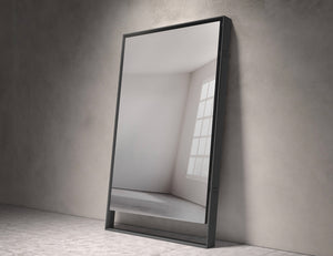 "Hackney 73""Mirror in Graphite Steel"