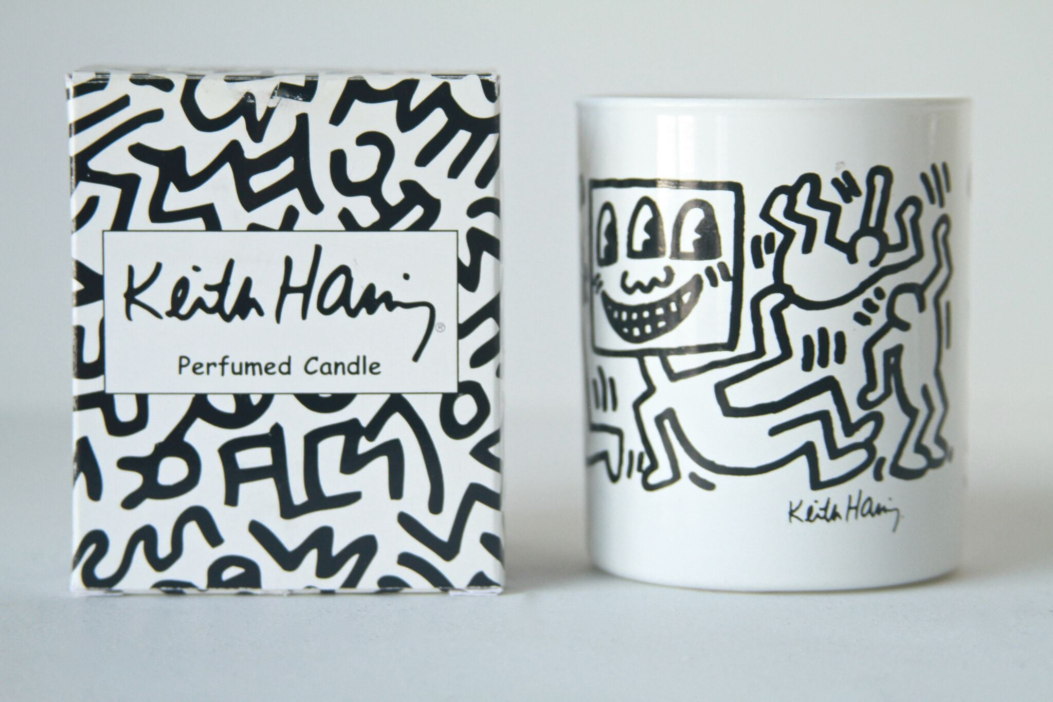 Keith Haring White Candle