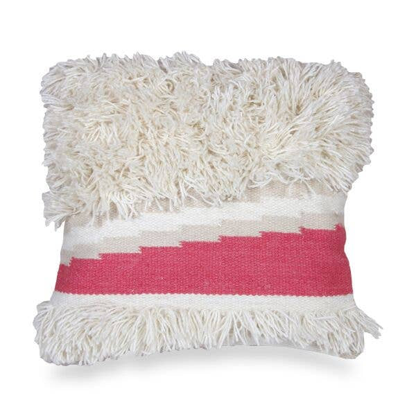 "Diagonal Pink Cushion | 18""x 18"""