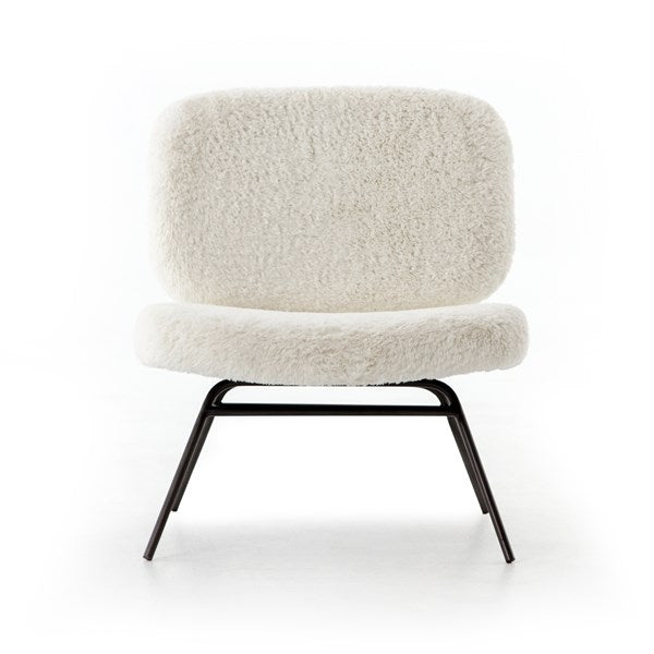 Faux Shearling Angora Chair