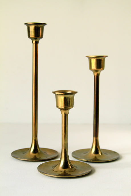 Brass Alter Candlesticks Set/3