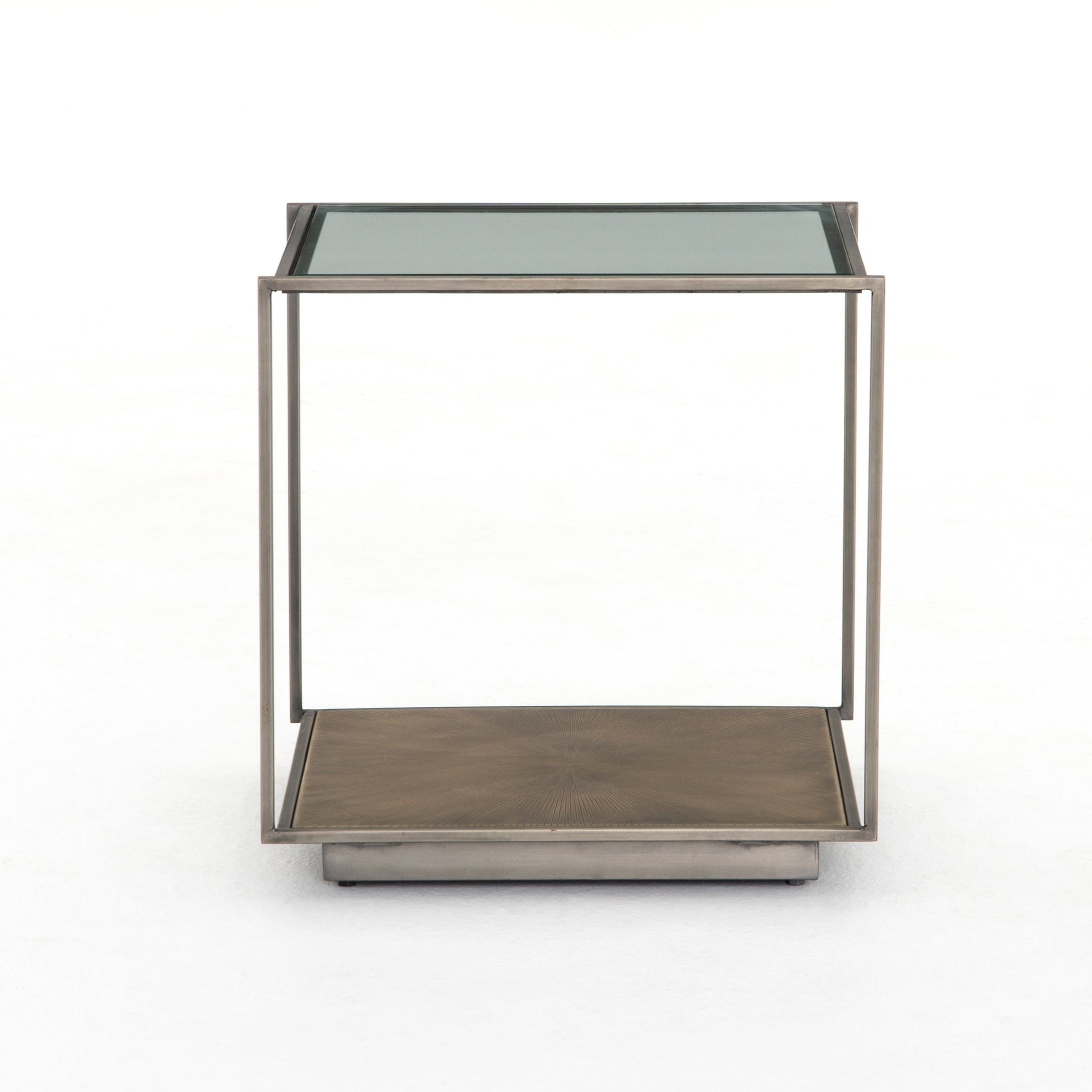 Abel Sunburst End Table | Wood & Glass