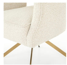 CREAM BOUCLE DESK CHAIR | KNOLL NATURAL