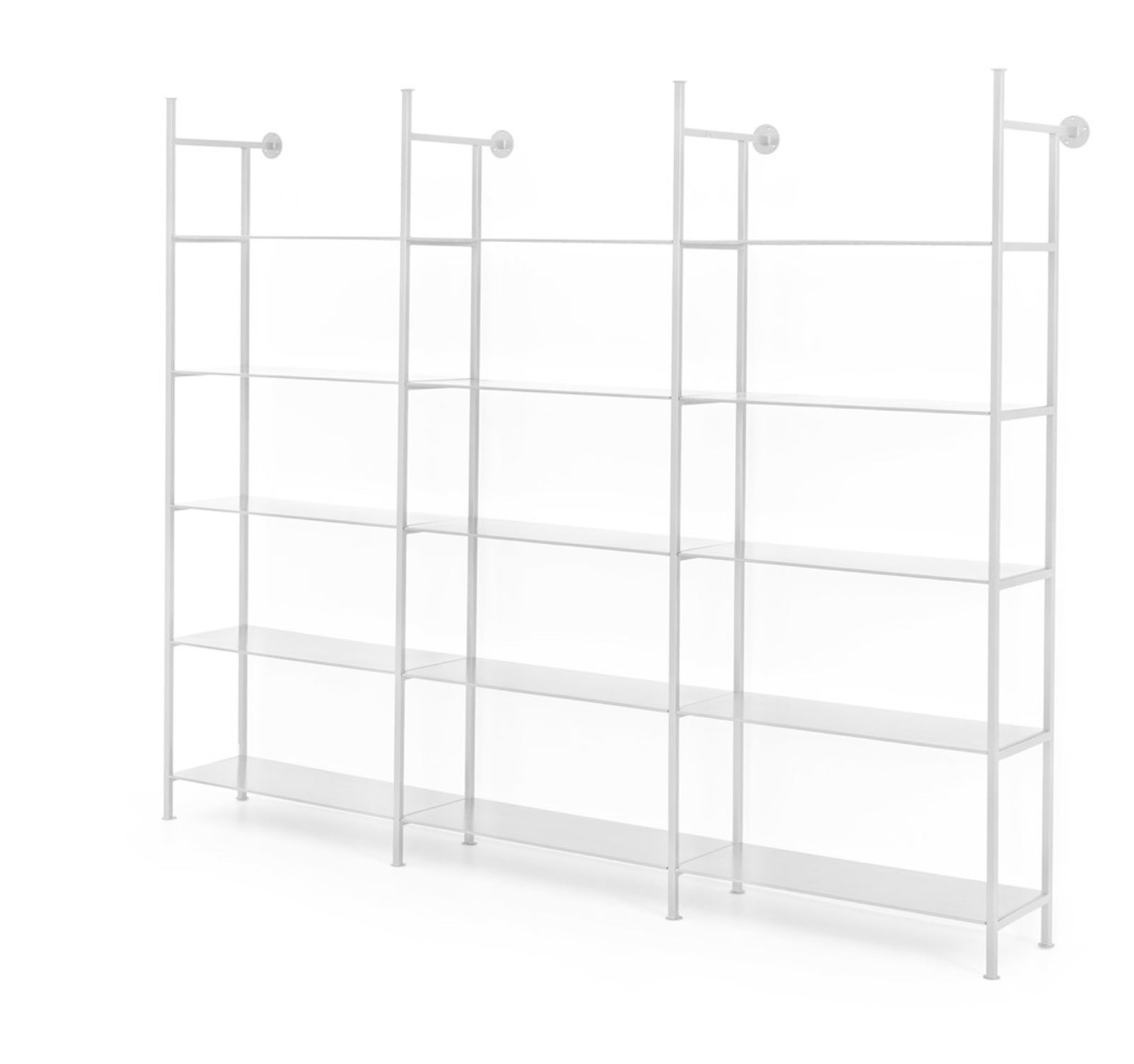 Modular Triple Bookshelf | White