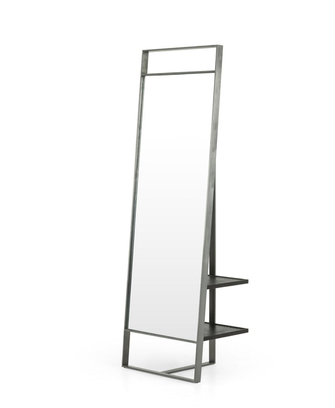 Provo Floor Mirror | Rustic Black