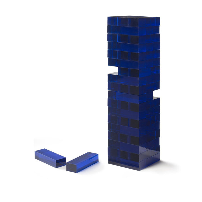 Acrylic Blue Tumble Tower Game
