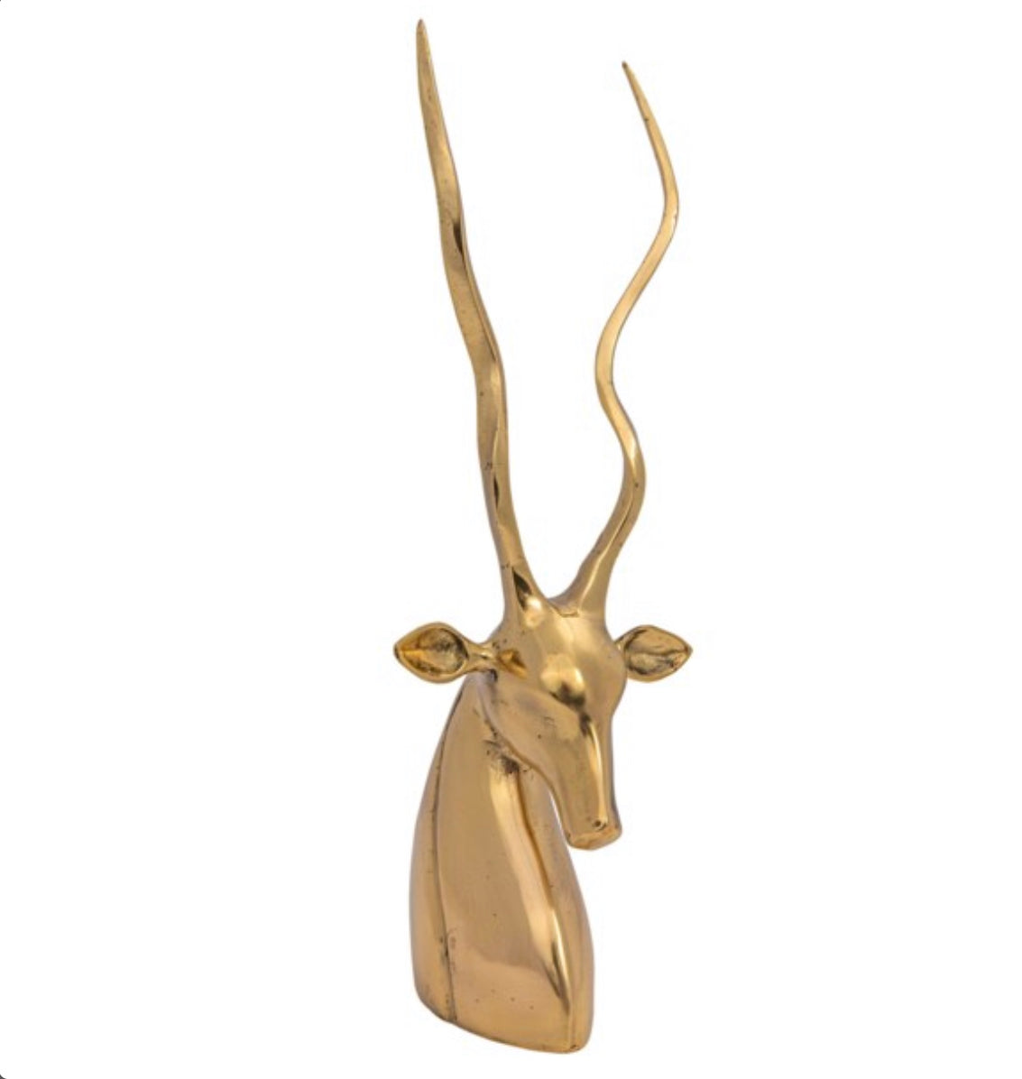 Brass Antelope Sculpture