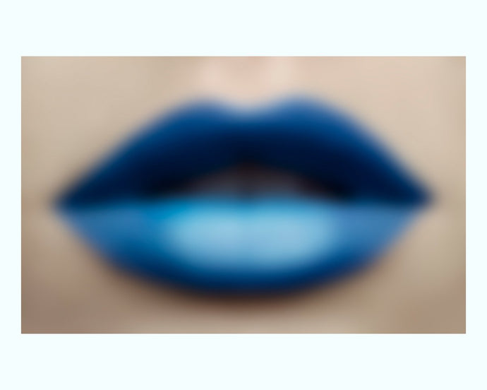Blue Lips Print | 50x30 | Unframed
