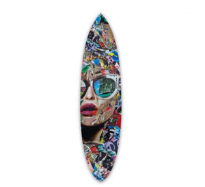 Katy Hirschfeld |  'TIMING IS EVERYTHING' SURFBOARD