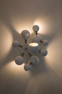 Atomic Wall Lamp White & Nickel