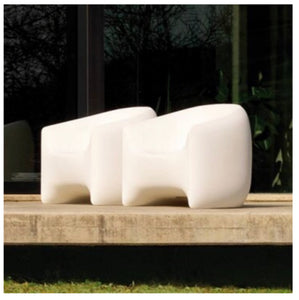 Modern Outdoor Resin Lounge Chair | Beige