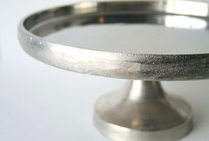 Lily Cake Platter Silver