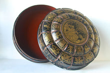 Antique Chinese Lacquered Cake Box