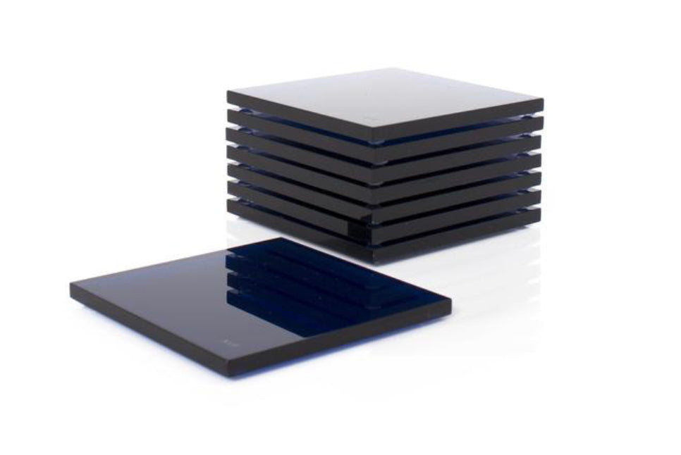 AVF Acrylic Sapphire Coasters | Set of 4 | Limited Edition Signed