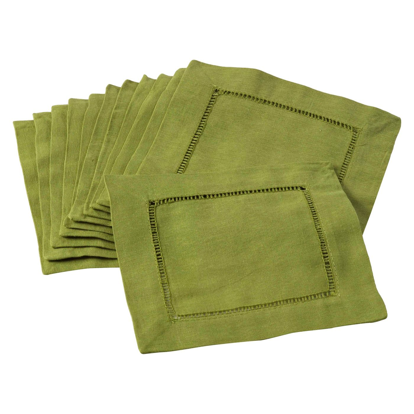 Hemstitched Cocktail Napkin | Lime | Set of 4