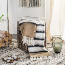 Heidi Throw Blanket | Brown & White