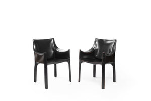 Vintage Black Cassina Chair | Set of 2