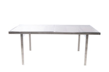 Vintage Smoke Glass Top & Chrome Dining Table