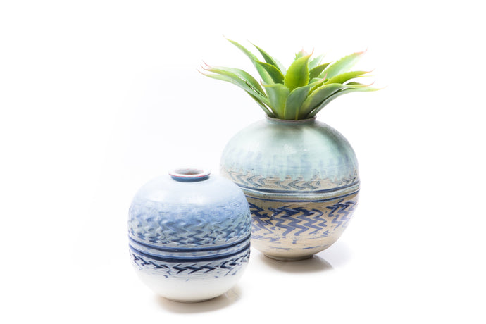 Ceramic Globe Vases by JJ Savage