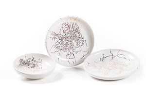 JJ Savage | Ceramic Snail Trail Serving Bowls/ Platters