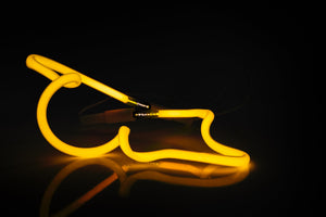 Marco Guglielmino | Yellow Neon Sculpture