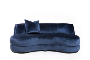 Princess Settee | Vintage with New Ink Blue Velvet