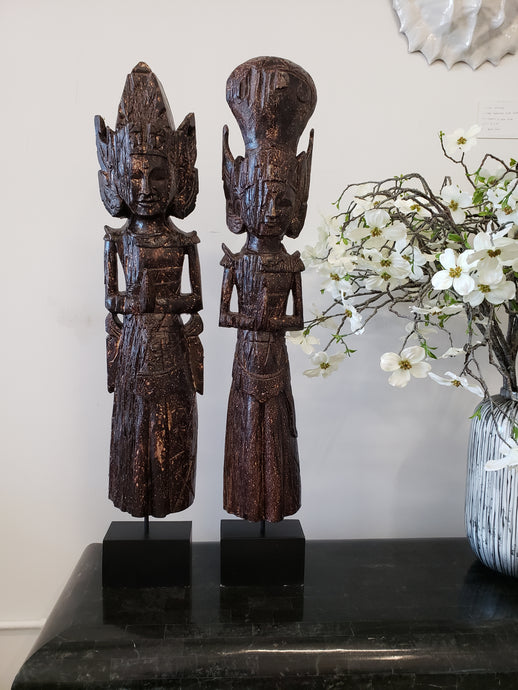 Tall Balinese Sculptures | Set 2