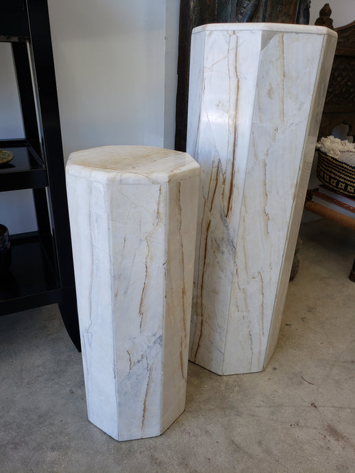Vintage Marble Pedestal | Small