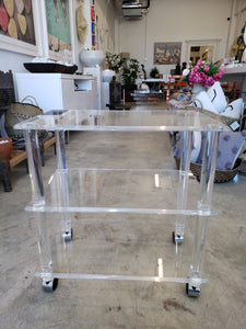 Small Vintage Acrylic Bar Cart