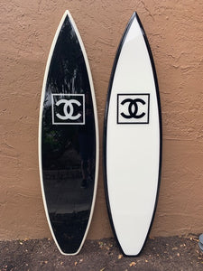 Decorative Black Surfboard | 6'