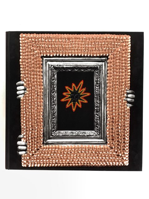 Studded Frame Art Coffee Table Book