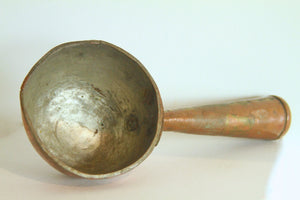 Vintage Indian Copper Oil Scoop