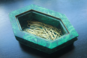 Small Vintage Malachite Bowl